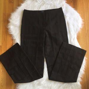 Women's Burberry Black Windowpane Trousers. 8